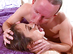 Cumming into her mouth then kissing her