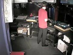 DJ fucking Groupie behind his Decks