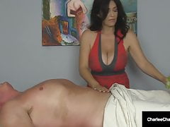 Massage Parlor Milf Charlee Chase Makes Guy Cum Twice!