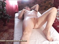 Massage parlor Masseur massaging pussy naked woman to orgasm